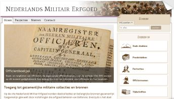 Website Nederlands Militair Erfgoed
