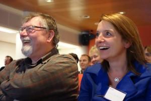 Bezoekers van het jubileumcongres NBV
